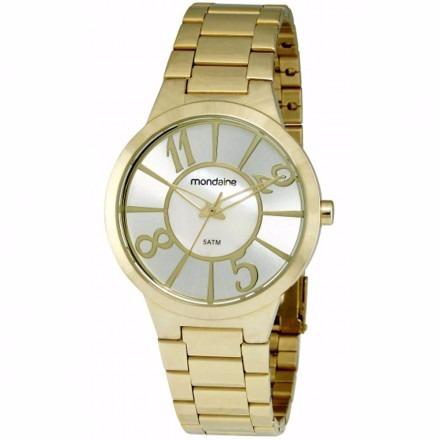 Relógio Mondaine Feminino 78144lpmfds1 Dourado Original