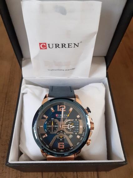 Promoção Relógio Masculino Funcional Original Curren 8329