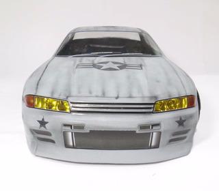 Bolha Nissan Skyline Gt-r R32 Autos 1/10 Transparente Bp42
