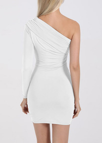 Sexy One-shoulder&sleeve-off Bosycon Dress
