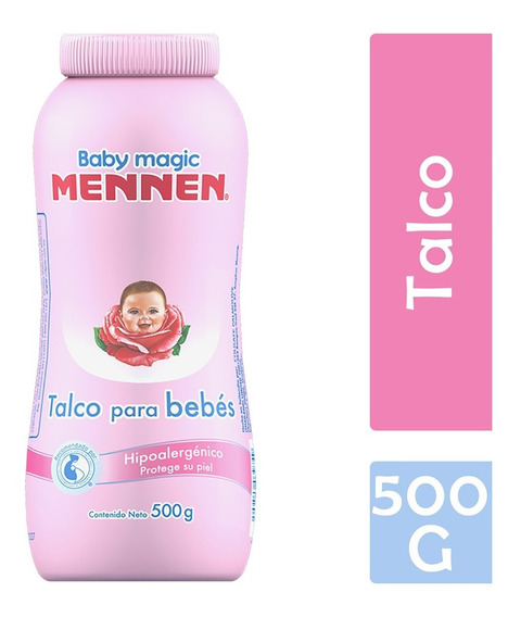 Talco Mennen Baby Magic Rosa Para Bebé 500 G