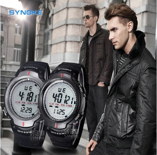 Relógio Masculino Synoke Wr50m Digital Pulso 61576
