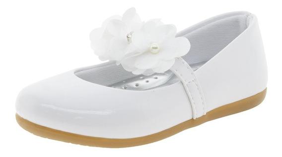Sapatilha Infantil Feminina Branca Lily Kids - 18079