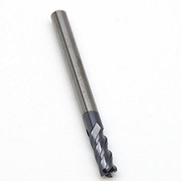 di/ámetro de corte 1,0 mm BONYTOOL 2 piezas Fresa de extremo longitud de 50 mm Fresa de fresado 4 canales para metal duro Acero HRC 65