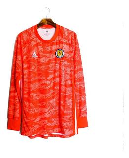 Camisa De Futebol Masculino Escócia 2019/20 adidas Goleiro