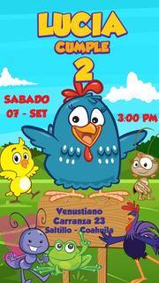 Invitacion De Cumpleaños Gallina Pintadita En Mercado Libre Perú