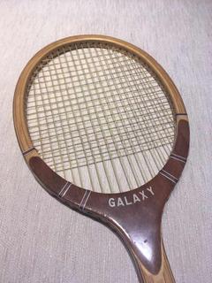 Raqueta De Tenis De Madera Vintage Galaxy