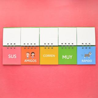 Libro Movil De Frases Montessori - Material Didáctico