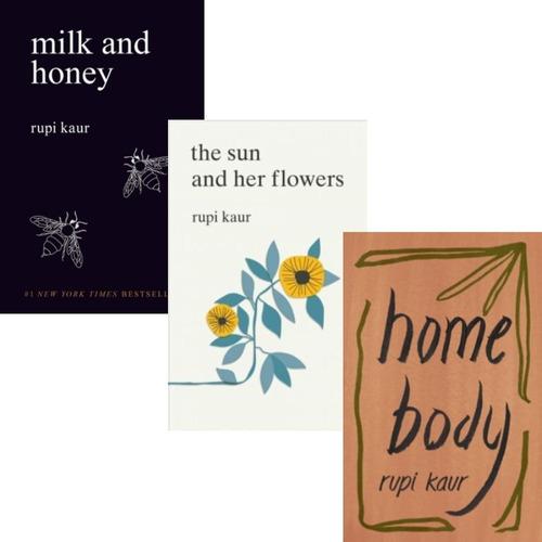 Pack Rupi Kaur - Home Body + Milk And Honey + Sun Flowers