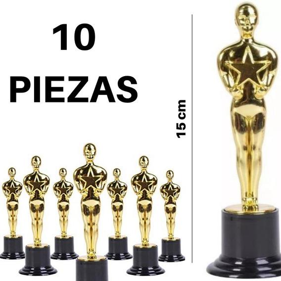 10 Oscar Estatuilla Trofeo Premio Hollywod Plástico Dorada