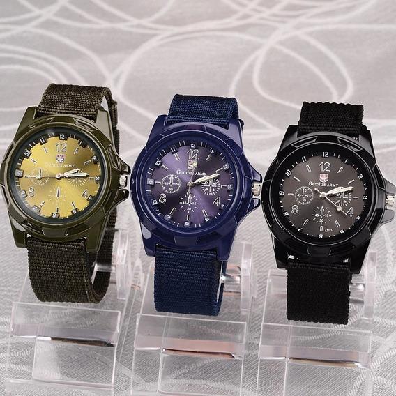 Reloj Para Hombre Casual Moderno Militar Ajustable