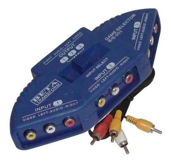 Chaves Seletora Rca Tv Lcd Ps3 Ps4 Switch Av/rca