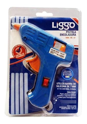 Imagen 1 de 1 de Pistola Encoladora Liggo 40 Watts Para Silicona De 11mm
