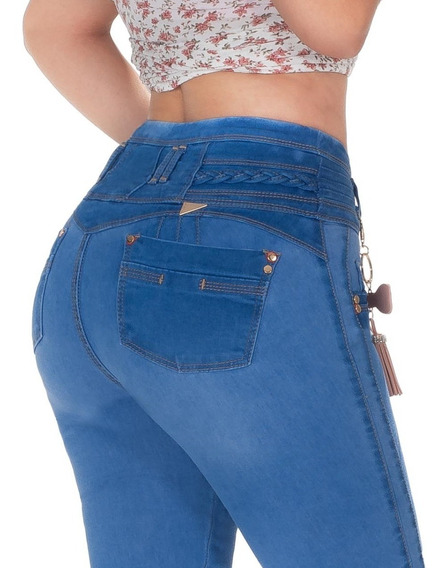 3 Jeans Dama Levanta Pompa Colombiano Push Up Mayoreo Brazil