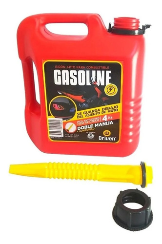 Bidon Tanque Nafta Combustible Moto 4l Tapa Pico Antiventeo