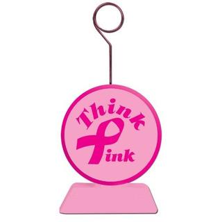 Beistle 50659 Pink Ribbon Photo Balloon Holder