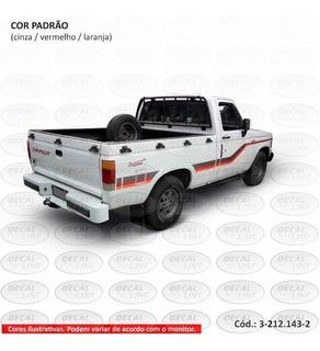 Faixa Auto Adesiva D20 1995 Conquest - Cabine Simples
