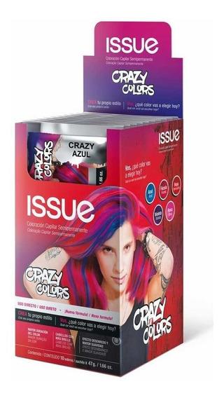 Tintura Fantasía Issue Crazy Colors X5 Sachet Elegí Tu Color