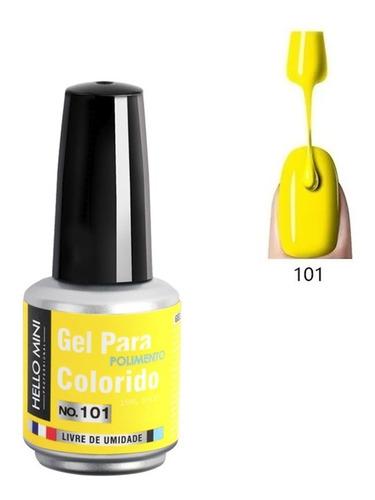 Esmalte Gel Led Uv Hello Mini 15ml Unha Seca Na Cabine Neon