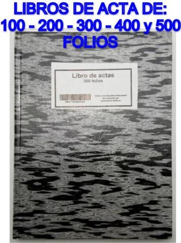 Libros De Acta 100 Folios