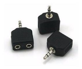 Kit Plug Duplicador Macho Femea Fone De Ouvido P2 J2