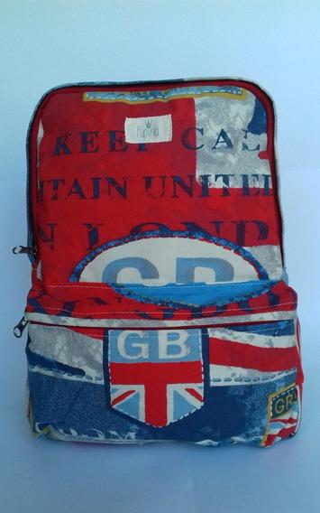 Mochila De Lona Modelo Britan - Pupina Bags