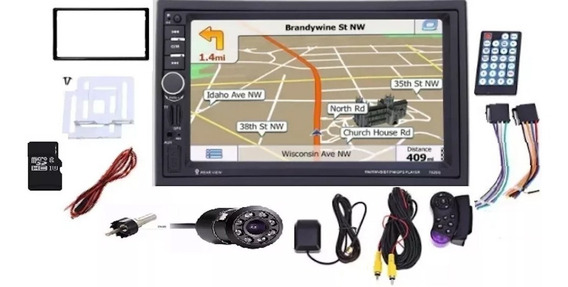 Radio Pantalla Táctil 7 Mp5 2 Din Bluetooth Usb+ Cámara+ Gps