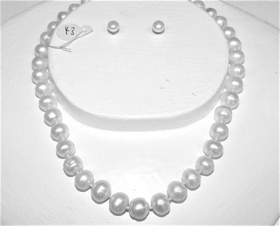 Collar Perlas Blanca Ca. 10-12 Mm Cultivada 43