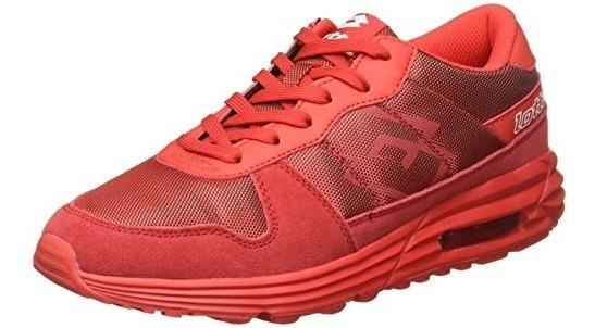 Lotto H0106 Tenis Para Hombre, Color Rojo, 25