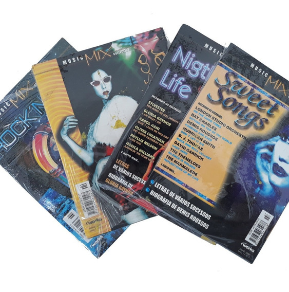 Revista Cd 4 Exemplares Music Mix Rock And Roll Disco Fever