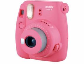 Câmera Instantânea Mini 9 Fujifilm Com Case Rosa