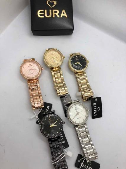 5 Kits Relógio Eura + Caixinha Personalizada