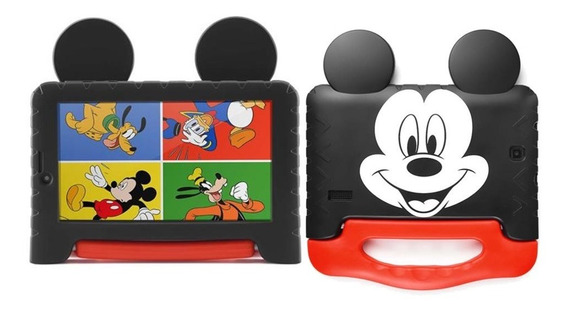 Tablet Kid Pad Plus 16gb Infantil Mickey Mouse Capa Emborrachada Com Alça Android 8.1 Quad Core Wifi Bluetooth Barato