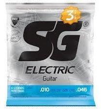 Encordamento.sg Guitarra 010 Pack C/3