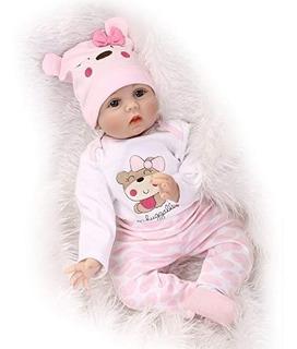 Bebé Reborn Muñeca Silicon Suave 55cm Osito Realista+envio