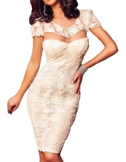 Vestido Blanco Importado Mujer Para Boda Civil O Fiesta.