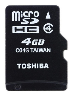 Cartão Memória Micro Sd 4gb Toshiba Original + Adaptador Sd!