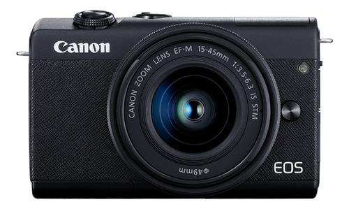 Imagen 1 de 6 de Canon EOS Kit M200 + lente 15-45mm IS STM sin espejo color  negro