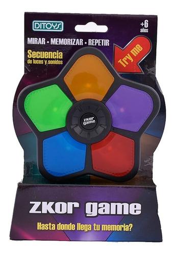 Juego Memoria Zkor Game Ditoys Secuencias Simil Simon Color