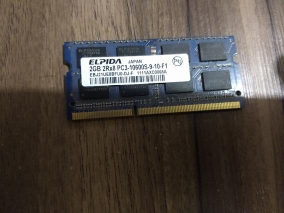 Elpida Ddr3 So-dimm Memoria Ram 2gb Pc3-10600s-9-10-f1