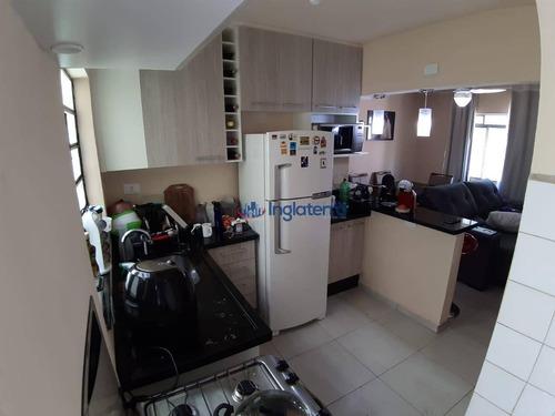 Imagem 1 de 11 de Apartamento, 55 M² - Venda Por R$ 180.000,00 Ou Aluguel Por R$ 750,00/mês - Vila Shimabokuro - Londrina/pr - Ap1076