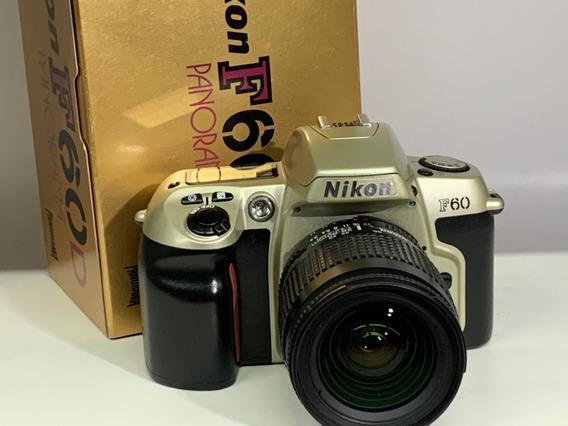 Câmera Nikon F60 C/ 28~80 Af Panôramica(analógica).