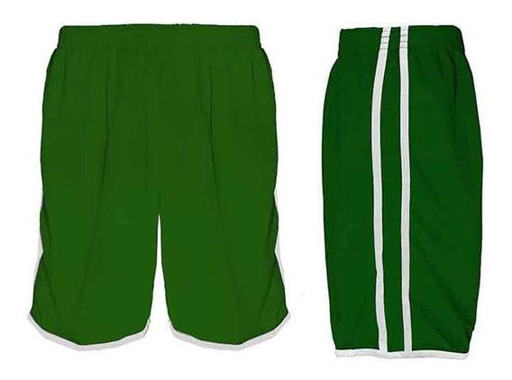 Calção Futebol Futsal Musculação-lotus-verde/branco-- Adulto