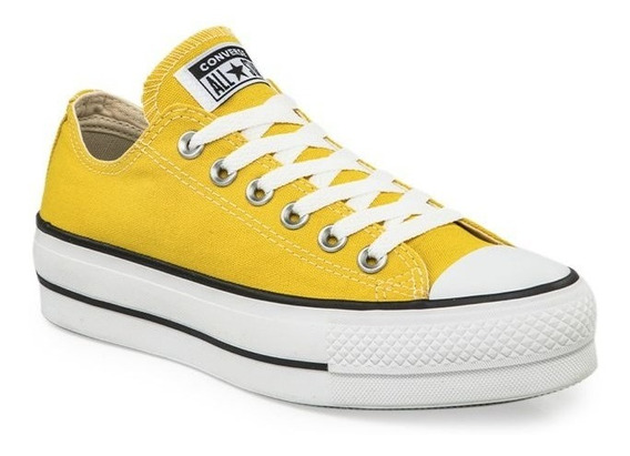 Zapatillas Converse All Star Plataforma Amarillo Dama