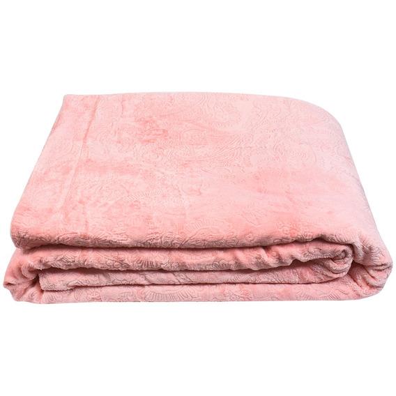 Cobertor Queen Size Di Fatto Dupla Face, Rosa