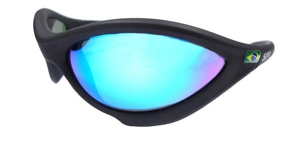 Óculos De Sol Spy Original Twist 45 Preto Brilho Lente Azul