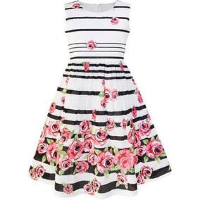 Estados Unidos Stock Moda Soleado Chicas Vestido Negro A...