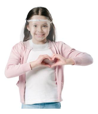 Imagem 1 de 12 de Face Shield Infantil Criança Volta As Aulas - Mbck01