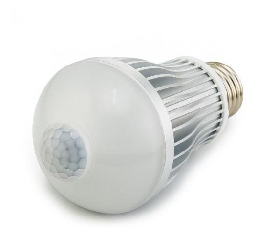 Lampada Led 9w Com Sensor De Presença Bulbo Economica