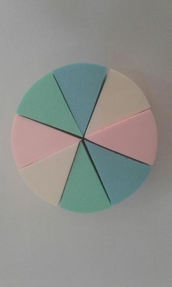 Esponjas Latex Cisne X 8 Unidades Triangular Base Maquillaje